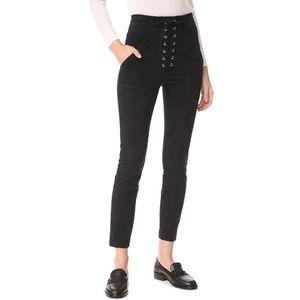 A.L.C. Lace-up High-waist Pants